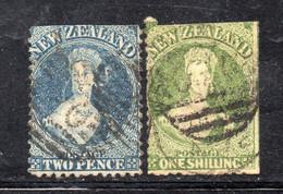 APR1005 - NUOVA ZELANDA , 2 Valori Difettosi  (2380A) - Used Stamps