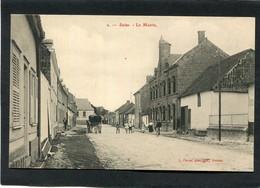 CPA - SAINS - Rue De La Mairie, Animé - Attelage - Autres Communes