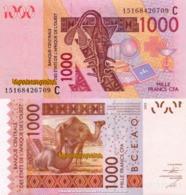 WEST AFRICAN STATES, BURKINA FASO, 1000 Francs, 2015, Code C, P315Co, UNC - Burkina Faso
