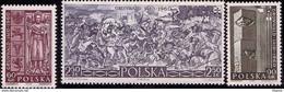 POLAND 1960 Mi 1174 - 1176, Painting By J. Matejko Battle Of Grunwald, 500th Anniversary Of The Battle. King W. Jag**MNH - Sonstige