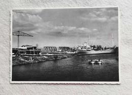 Cartolina Illustrata Precenicco - Cantiere Navale Sul Fiume Stella, Viaggiata Per Castagnole 1953 - Altre Città