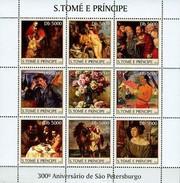 SAO TOME E PRINCIPE 2003 SHEET ANNIVERSARY ST. PETERSBURG ART PAINTINGS ARTE PINTURAS St3315 - Sao Tome And Principe