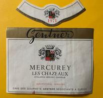 16359 - Mercurey Les Chazeaux 1971 Cave Des Gourmets Gentner Zürich - Bourgogne