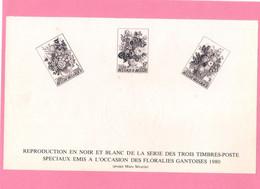 Feuillet Noir Et Blanc De 1980 ( 1966/68 ). - Zwarte/witte Blaadjes