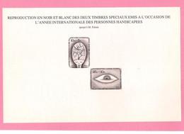 Feuillet Noir Et Blanc De 1981 ( 1999/00 ). - Zwarte/witte Blaadjes