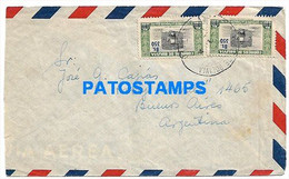 145159 BOLIVIA LA PAZ COVER CANCEL CIRCULATED TO ARGENTINA NO POSTAL POSTCARD - Bolivia