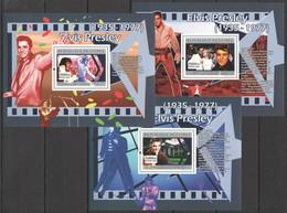 SS945 2007 DE GUINEE FAMOUS PEOPLE MUSIC LEGEND ELVIS AARON PRESLEY 3BL MNH - Elvis Presley
