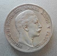 Germania, Prussia, 5 Marchi 1907 A Berlin Guglielmo II Argento - Germany Preussen 5 Mark Wilhelm II Silver - [ 2] 1871-1918: Deutsches Kaiserreich