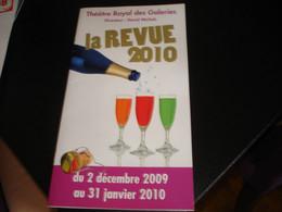 PROGRAMME DE LA REVUE 2010 AU THEATRE ROYAL DES GALERIES  - BRUXELLES - Programmes
