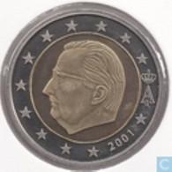 Belgie 2001   2 Euro   UNC Uit De BU   UNC Du Coffret   ZEER ZELDZAAM  EXTREME RARE !! - Belgien