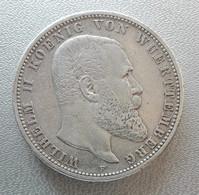 Germania, Wurtemberg, 5 Marchi 1903 F Francoforte Gugliel II Argento - Germany Wuerttemberg 5 Mark Frankfurt Wilhelm II - [ 2] 1871-1918: Deutsches Kaiserreich