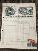 Factuur Brouwerij A Versele-Deruyttere Zulte 1929 - Vecchi Documenti