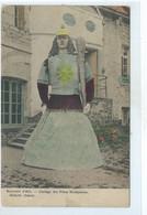 Ath - Souvenir D'Ath Cortège Des Fêtes Nationales Mademoiselle Goliath  ( Géant ) Carte Colorisée - Ath