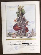 Soc. Sempione Milano - Diploma Lotta Greco Romana - Campionati Lombardi 1930 Ca. - Vecchi Documenti