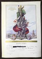 Soc. Ginnastica Atletica Sempione Milano - Diploma Lotta Greco Romana - 1928 - Vecchi Documenti