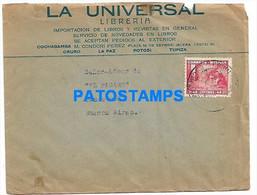 145165 BOLIVIA COVER CANCEL PUBLICITY LA UNIVERSAL LIBRERIA CIRCULATED TO ARGENTINA NO POSTCARD - Bolivia