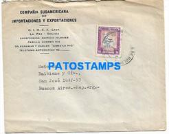 145167 BOLIVIA LA PAZ COVER CANCEL COMPAÑIA IMPORTACIONESY EXPORTACIONES CIRCULATED TO ARGENTINA NO POSTAL POSTCARD - Bolivia