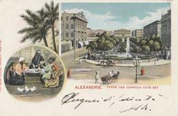 Cartolina  - Postcard /  Viaggiata  -  Sent  /  Egitto, Alexandrie - Place Des Consuls - Alexandria