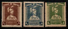 A326B- COLOMBIA - 1933 - MI#: 343-345- MNH- CARTAGENA 400 YEARS- PEDRO DE HEREDIA - Colombia