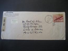 Vereinigte Staaten 1947- Flugpost Zensurbeleg Von Der Universität Of Georgia Gelaufen Von Athens Nach Linz - Covers & Documents