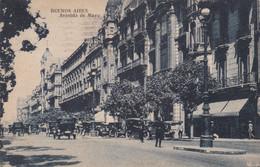 ARGENTINA - CARTOLINA - BUENOS AIRES - AVENIDA DE MAYO - DESTINATA PER MILANO -ITALIA - Argentina