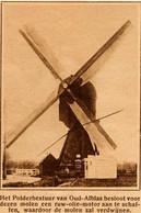 Windmill, Oud Alblas, Sliklandse Molen, Poldermolen - Vecchi Documenti