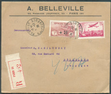Lettre Recommandée De PARIS Le 4-11-1936 Vers Bruxelles Avec Affr. à 3Fr.75 Dont OrphelinTB - 16342 - France