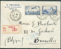 Lettre Recommandée De PARIS Le 13-5-1936 Vers Bruxelles Avec Affr. à 3Fr.50 TB - 16343 - France