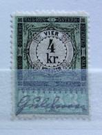 AUSTRIA  MARCA DA BOLLO - STEMPELMARK  4 Kr  - 1893 - Fiscales