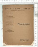 PG / Vintage //  RARE PROGRAMME Théâtre A L'HOPITAL 1934 @@ Chez Mlle AMELINE //YCHE Opéra / MENDELS DERROJA - Programmes