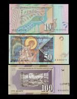 MACEDONIA SET 10 50 100 DINARA BANKNOTES 2007-2011 UNC - Macedonia