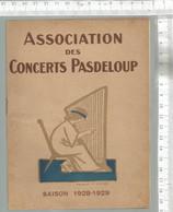 PG / Vintage //  PROGRAMME Concert PADELOUP 1928 @@ SCHUBERT  LIEBENBERG @@ MURATORE GALA RHENE BATON - Programmes