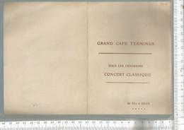 PG / Vintage //  PROGRAMME CONCERT CLASSIQUE Musique 1934 @@ Grand Café Terminus @@ BADENES GARCIA Madrid // DELVIGNE - Programmes