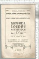 PG / Vintage //  PROGRAMME Soirée ARTISTIQUE // BAL De NUT @@ EXHIBITION DE BOXE DUBOIS MANHES - Programmes