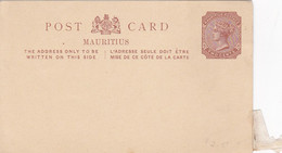 """MAURITIUS, Africa, """"two Cents"""" Victoria Postal Card 1880-90s - Mauritius"""