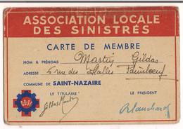 Carte ( Association Locale Des Sinistrés ) ( Commune De Saint Nazaire ) - Zonder Classificatie