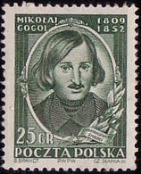 1952 Poland, Mi 743, Russian Writer, N. Gogol, 100th Death Anniversary. MNH** - Ongebruikt