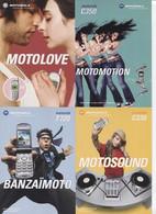 "CPM - PUBLICITE - TELEPHONE Portable ""MOTOROLA"" - Carte PUB - Lot De 4 Cartes - Pubblicitari"