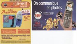 "CPM - PUBLICITE - TELEPHONE Portable ""TRIUM / PANASONIC"" - Carte PUB - Lot De 2 Cartes - Pubblicitari"