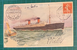 N°138 Cad NEW-YORK AU HAVRE - 1909 - Carte Défectueuse - Cote 55€ - 1877-1920: Semi-moderne Periode