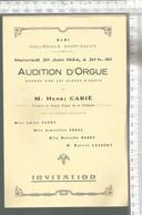 PG / Vintage // PROGRAMME MUSIQUE ORGUES 1934 @@@ ALBI  CONCERT ORGUE Musique - Programmes