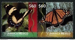 Jamaica (2016) - Set -  /  Diplomatic Relations With Jamaica - Butterflies - Butterfly - Papillon - Mariposas - Vlinders - Emissioni Congiunte