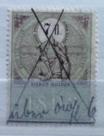AUSTRIA  MARCA DA BOLLO - STEMPELMARK  7 Fl  - 1893 - Fiscales