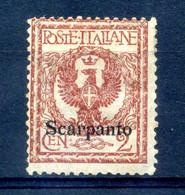 1912 SCARPANTO N.1 * - Egeo (Scarpanto)