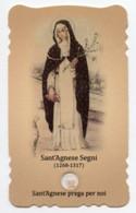 Santino Fustellato SANT'AGNESE SEGNI Con RELIQUIA (Ex-Indumentis) - PERFETTO G79 - Godsdienst & Esoterisme