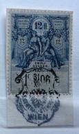 AUSTRIA  MARCA DA BOLLO - STEMPELMARK  12 Fl  - 1893 - Fiscales