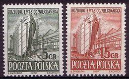 1952, Poland, Mi 775 -776  Industralization, Shipyard Port Ship  MNH** - Ongebruikt