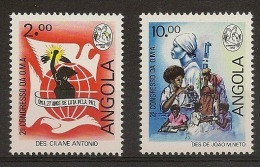 ANGOLA 1988 2th  Woman Congresse - Angola