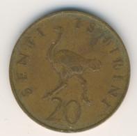 TANZANIA 1976: 20 Senti, KM 2 - Tanzania
