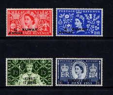 KUWAIT    1953    Coronation    Set  Of  4    MH - Kuwait
